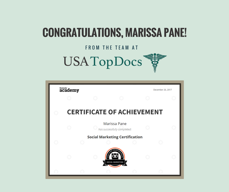 Fl Top Docs Congratulates Usa Top Docs Social Media Specialist Fl